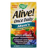 Nature's way Alive men 60 табл мужские мультивитаминных и минералы
