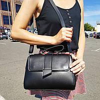 "Женская повседневная сумка-саквояж красная ""Каталина Black"""""