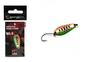 Блесна D•A•M EFFZETT® Area-Pro Trout Spoon №5 2.5гр 31.5мм (цвет- green orange smolt)