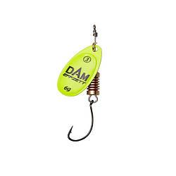 Блесна D•A•M EFFZETT® SPINNER Fluo With Single Hook №2 4гр (цвет- yellow)