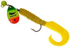 Блесна Mepps Aglia Spinflex Chartreuse/Tiger/Yellow 14гр (30 133 014)