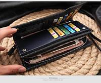Стильная кожаная барсетка. Кожаный клатч. Практичный кошелек. Интернет магазин. Код:  КСЕМ2