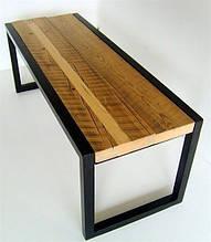 Стол из метелла и дерева