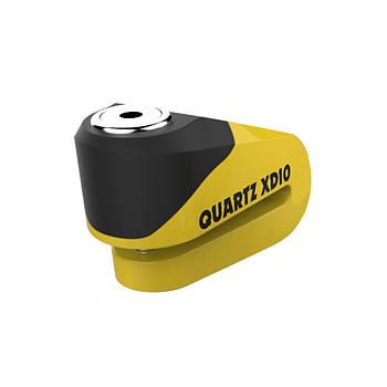 Замок противоугонный Oxford Quartz XD10 Yellow 10mm