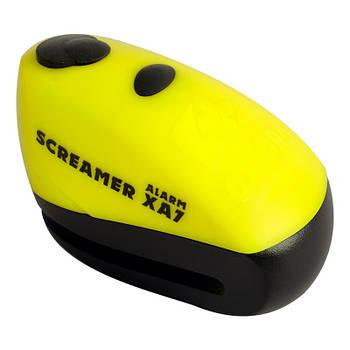 Замок противоугонный Oxford Screamer XA7 Yellow Black
