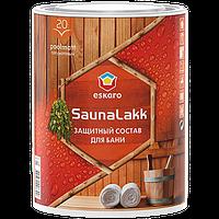 """Акриловый водоразбавимый лак для для бани ТМ """"ESKARO"""" Saunalakk - 2,4 л."""