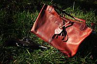 """Кожаная сумка цвета кирпич Ardad """""""