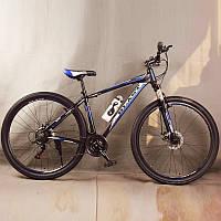 Велосипед спортивный S300 BLAST-NEW. Алюминиевый. Диаметр колёс 29'', Рама 18', Чёрно-Синий.
