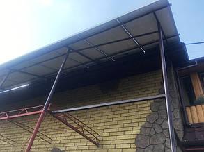 Металлоконструкция под солнечные батареи (вид снизу).
