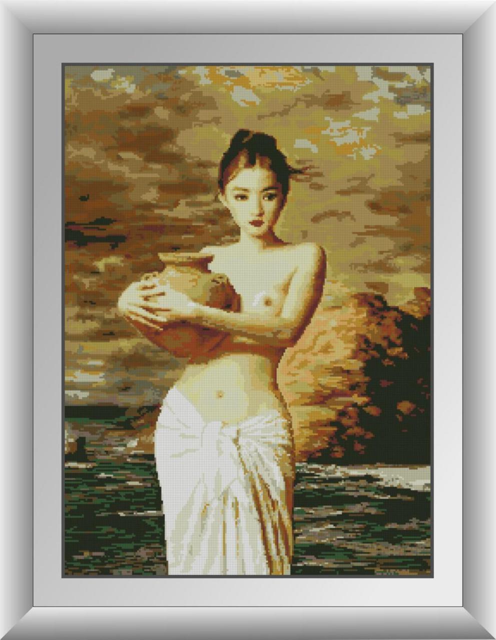 Алмазная мозаика Девушка с кувшином Dream Art 30868 (53 x 74 см)