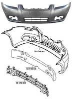 Бампер передний Chevrolet Aveo / Vida T250 t250 без усилителя (FPS)