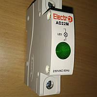 Светосигнальный индикатор AD 22M зеленый LED , 230В на DIN-рейку