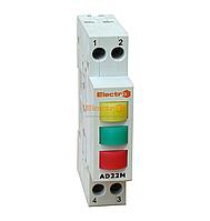 Светосигнальный индикатор фаз AD 22M красный - зеленый - желтый LED, 380В на DIN-рейку