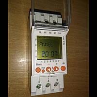 Таймер суточный Т15 цифровой 16А 230В со сменным аккумулятором на DIN-рейку/Таймер тижневий Т15 цифровий 16А