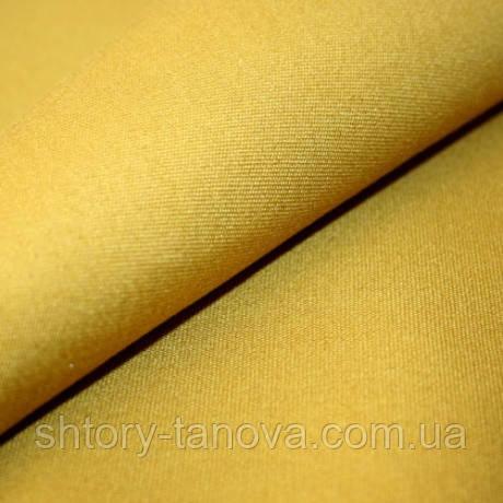 Однотонный дралон горчичного цвета для уличных штор летнего кафе, декоративных подушек