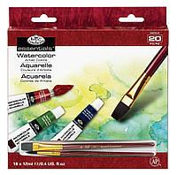 Набор акварельных красок Royal Langnickel (18 цветов по 12 ml + 2 кисти)