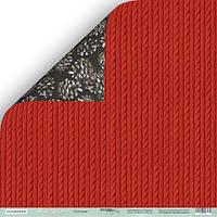 Лист двусторонней бумаги 30x30 от Scrapmir Плетение из коллекции Nordic Spirits
