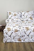 Постельное белье Lotus Ranforce Emily бежевое двухспального размера