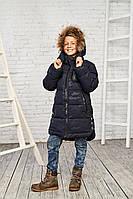 Зимняя куртка на мальчика курточка детская подростковая зима 158,170р синий камуфляж