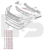 Бампер задній Hyundai Santa Fe II без отворів під парктроник (FPS). 866112B020
