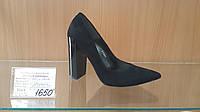 Туфли черные натуральная замша (Польша)