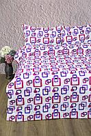 Постельное белье Lotus Ranforce Delta лиловое двухспального размера