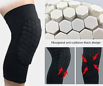 Наколенник защитный компресионный Zelart Knee Pads Pro для баскетбола, волейбола, тенниса S-XL 1 шт. черный