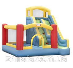 Little Tikes надувний батут дитячий майданчик з лазаньем і гіркою GIANT SLIDE