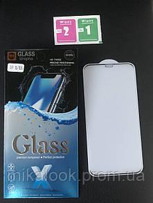 Защитное стекло для Iphone X/XS (10D)