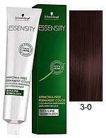 3-0 Темно коричневый натуральный перманентный крем-краситель Schwarzkopf Professional Essensity Permanent 60мл