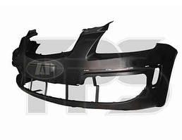 Бампер передний KIA RIO -11 черный с отверстиями под накладки (FPS)