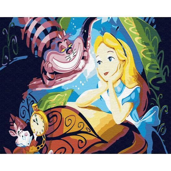Картина по номерам Алиса и Чеширский Кот, 40x50 см., Brushme