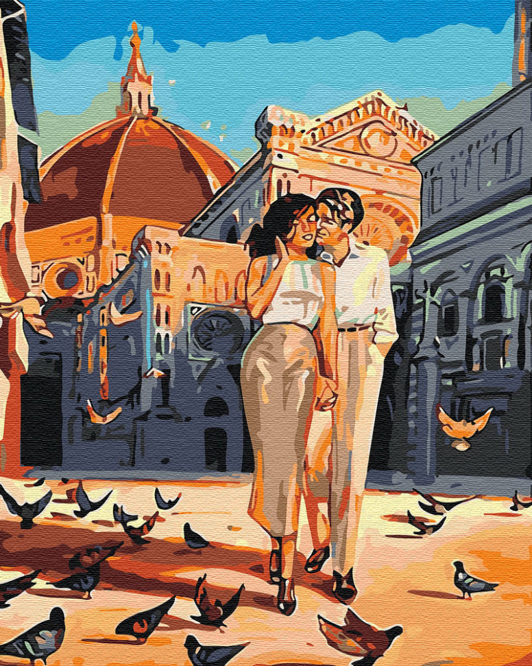 Картина по номерам Любовь и голуби, 40x50 см., Brushme