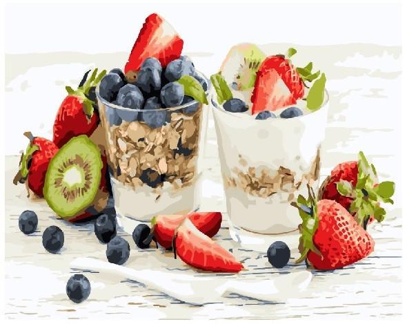 Картина по номерам Мюсли с йогуртом, 40x50 см., Brushme