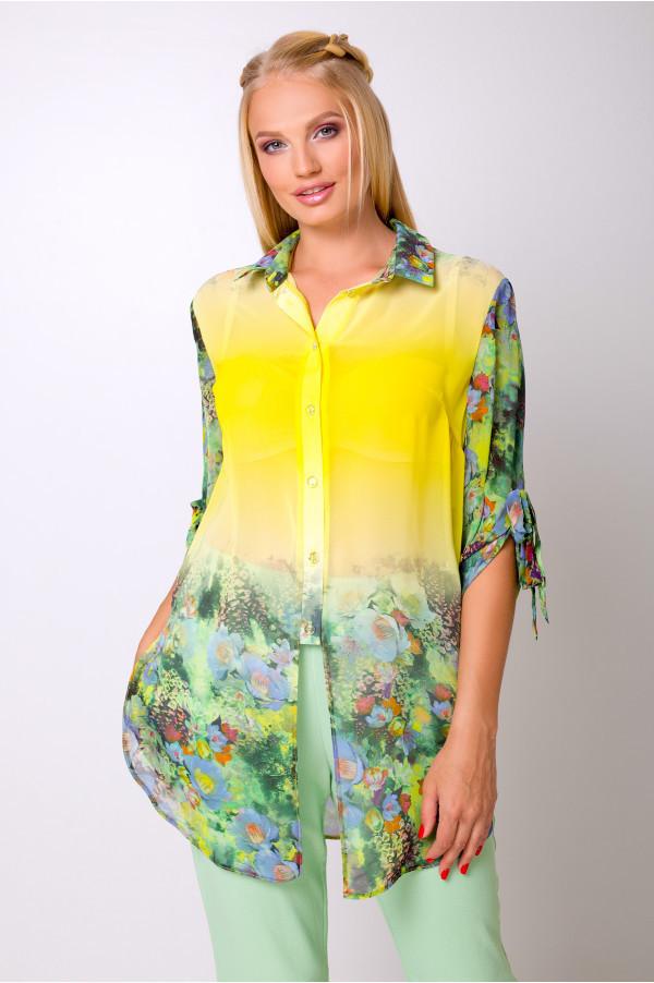 Шифоновая блуза с 50 по 56 размер