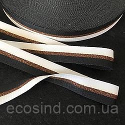 Лампасная репсовая лента (тесьма) ширина 2см. на отрез кратно 1 м. - (ЧКБ)