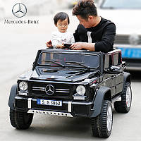Двухместный детский электромобиль Джип M 4000 EBLR-2, Mercedes-Maybach, черный