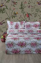 Постельное белье Lotus Ranforce Nancy розовое двухспального евро размера