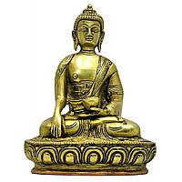 Статуэтка Будды в позе лотоса из бронзовы (Высота 18 см)(1130 г.)