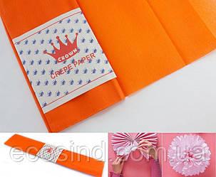 (50см х 1,8метра) Креп бумага, жатка, гофробумага (плотность 20гр/м) Цвет- Оранжевый