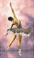 "Схема для вышивки бисером на атласе ""Балерина"""