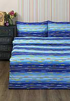 Постельное белье Lotus Ranforce Metropolis голубое двухспального евро размера