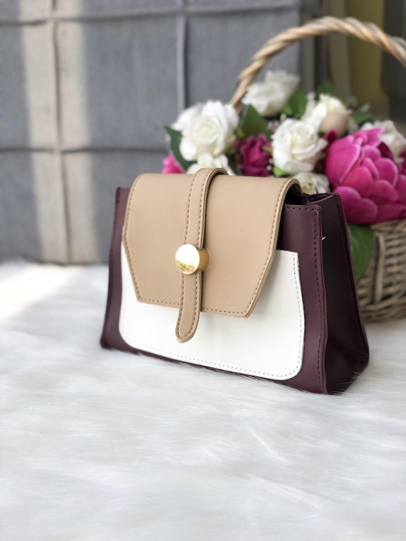 Женская сумка в комбинированном цвете, эко кожа