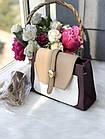 Женская сумка в комбинированном цвете, эко кожа, фото 2