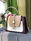 Женская сумка в комбинированном цвете, эко кожа, фото 5