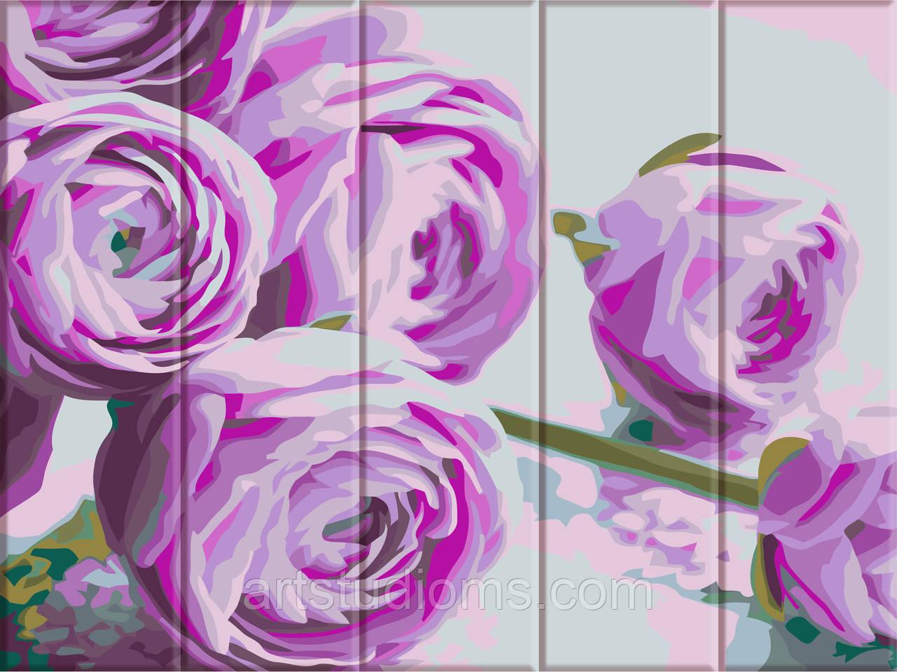 Картина по номерам Сиреневые цветы набор для рисования, 30х40 см, С Коробкой