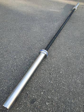 Гриф олимпийский для кроссфита, тяжелой атлетики 220 см, 450 кг, 4 подшипников, 28 мм (CrossFit), фото 2