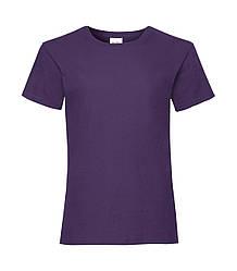 Футболка для девочек однотонная фиолетовая 005-РЕ