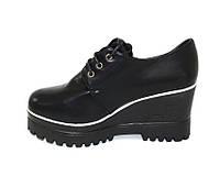Стильные женские ботинки , туфли на высокой скрытой танкетке