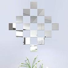 Набор акриловых зеркал 16 шт. 15×15 см × 1 мм серебро